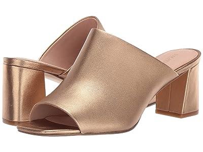 Rachel Zoe Mila Peep Toe Mule (Gold Sand Metallic Nappa) Women
