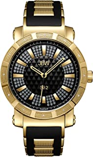 JBW Men's JB-6225 562 Pave Dial 18k Gold-Plated Stainless Steel Diamond Watches
