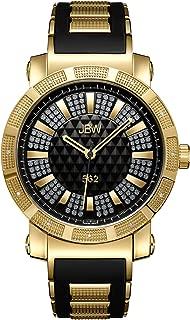 JBW Luxury Men's 562 12 Diamonds Pave Dial Rubber Bracelet Watch