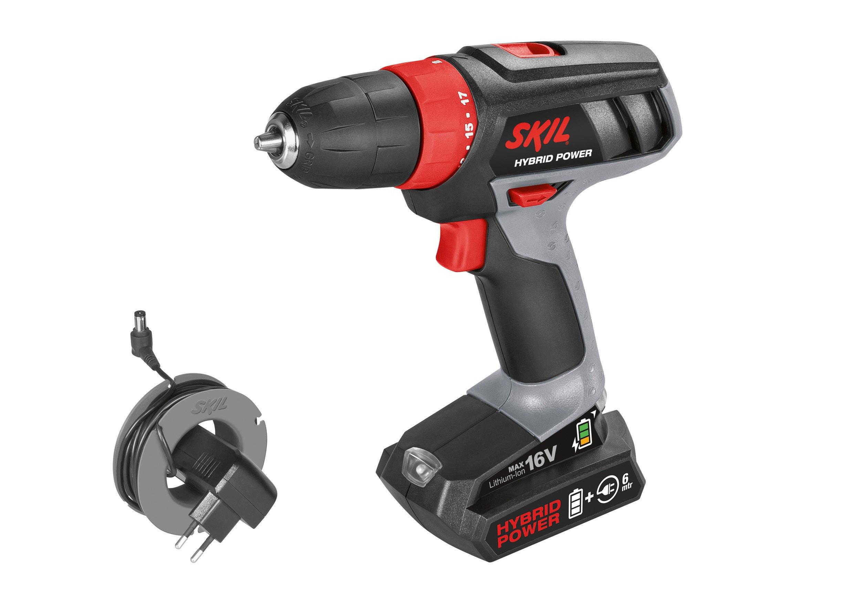 Skil 2461 AA Taladro atornillador a batería - utilice la batería o el cable – 16V Max: Amazon.es: Bricolaje y herramientas