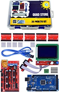 Quad Store 3D Printer Core Parts kit with Mega 2560, Ramps1.4 Shield, A4988 and 12864 Smart LCD