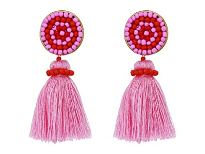 J.Crew Mini Tassel Earrings (Bohemian Rose) Earring