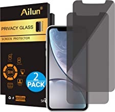 Ailun Privacy Screen Protector Compatible iPhone XR 6.1Inch 2018 Release 2 Pack Japanese Glass 0.25mm Anti Spy Tempered Glass Anti Scratch Case Friendly