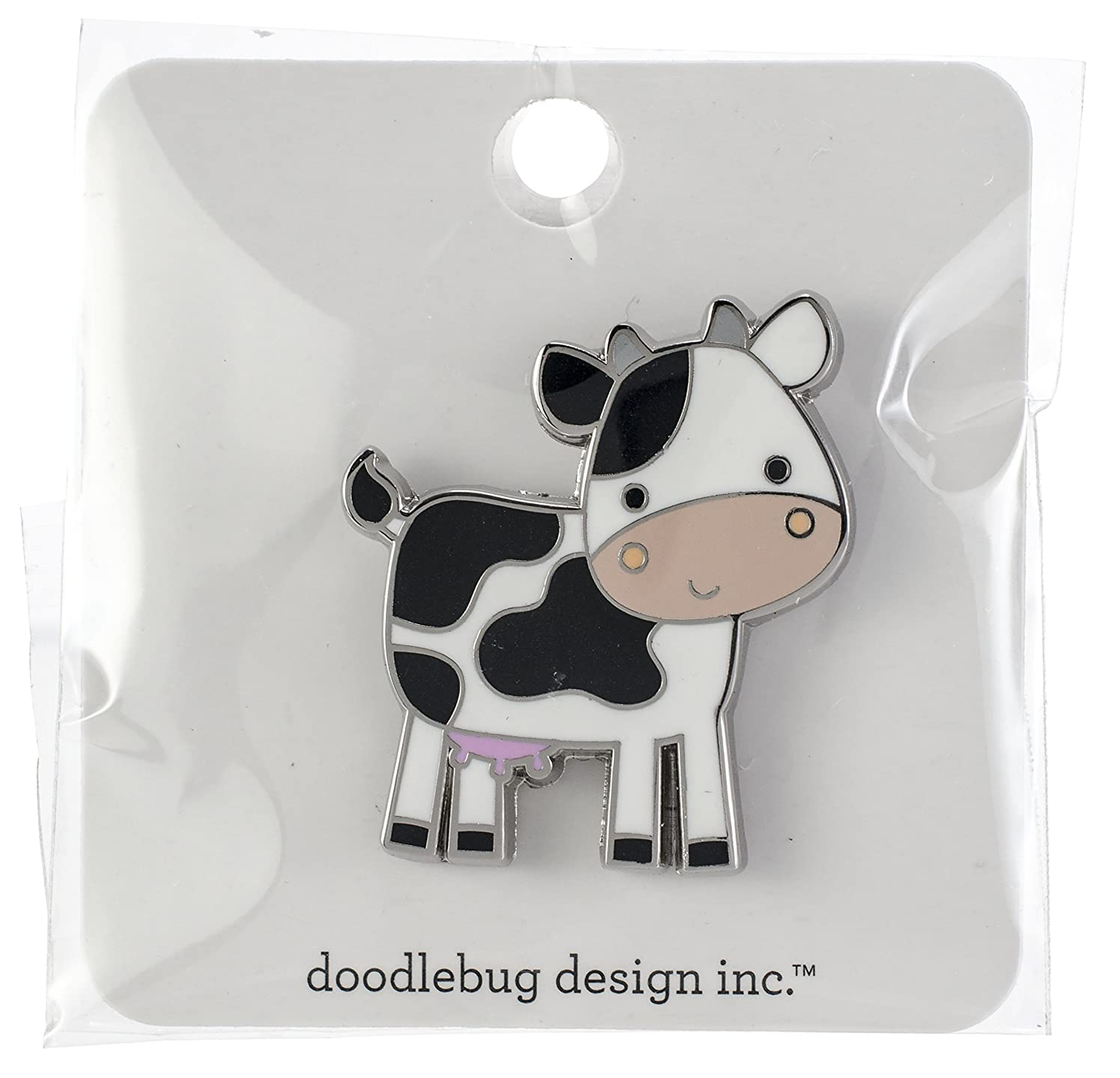 Doodlebug CP5925 Collectible Enamel Pin, What's What's Moo?