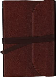 KJV, Journal the Word Bible, Large Print, Premium Leather, Brown, Red Letter Edition: Reflect on Your Favorite Verses