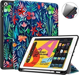 Fintie SlimShell Case for New iPad 10.2 Inch 2019 with Built-in Apple Pencil Holder - Lightweight Smart Stand Soft TPU Protective Back Cover, Auto Wake/Sleep for iPad 7th Gen 10.2