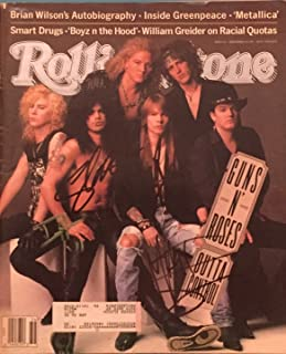 Rolling Stone Mag Signed By The Band Guns N' Roses