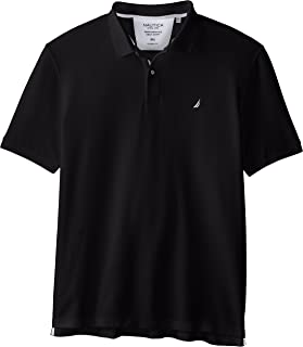 Nautica Men's Classic Short Sleeve Solid Performance Deck Polo Shirt