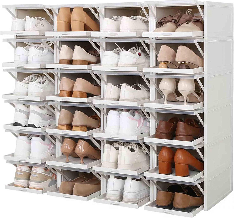 Buy JJMG Stackable Shoe Box Drawer Type Design Set of 20 Push Pull ...