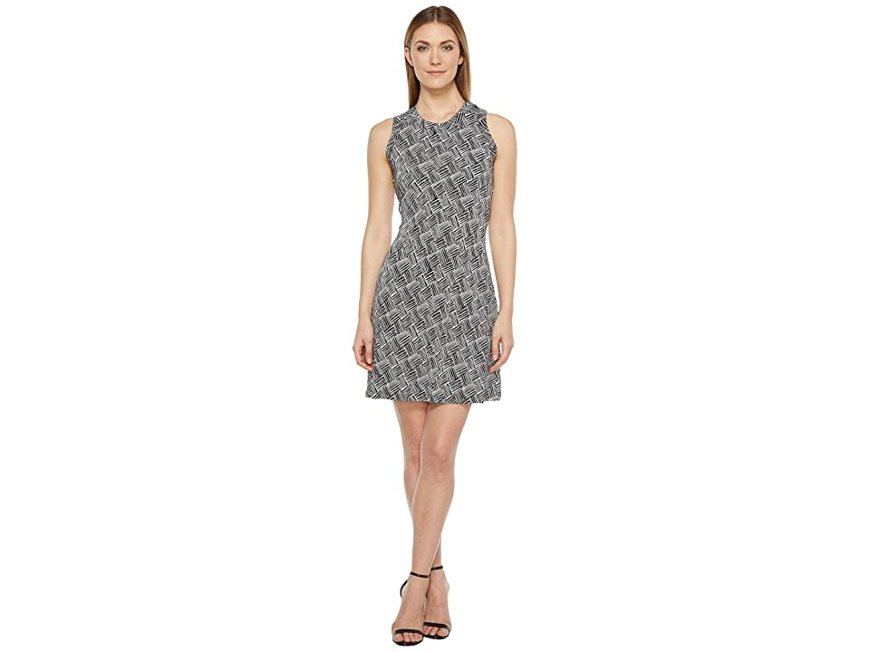 Karen Kane Crew Neck Halter Dress (Print) Women