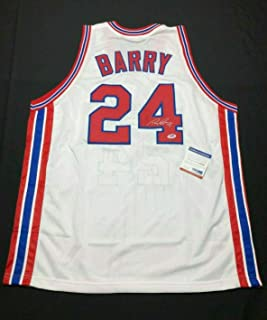 Rick Barry Signed Jersey - *HOF 1987 6A85681 - PSA/DNA Certified - Autographed NBA Jerseys