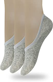Eedor Women's No Show Socks with Reinforced Toe 3 to 8 Pack