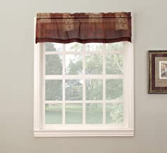 "No. 918 Eden Inspirational Kitchen Curtain Valance, 56"" x 14"", Mulberry"