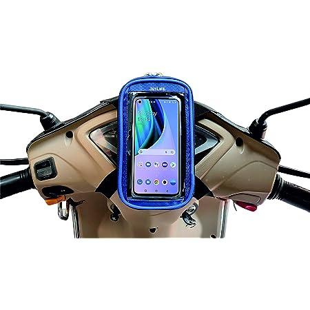 JETLIFE Universal Mobile Holder / Pouch-Bag for Scooters Scooty's Activa Jupiter EV | New Improved 2-in-1 Design | Premium (BLUE)