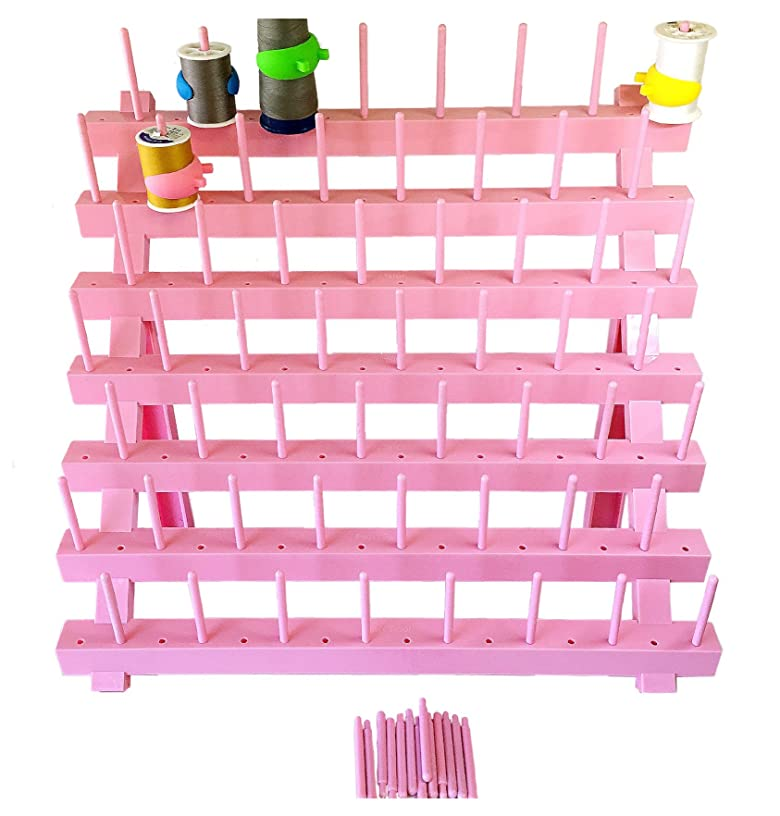 PeavyTailor Sewing Thread Rack Sewing Cone Storage Organizer Embroidery Thread Organizer - Pink