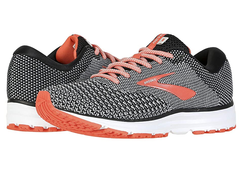 Brooks Revel 2 (Black/Light Grey/Coral) Women