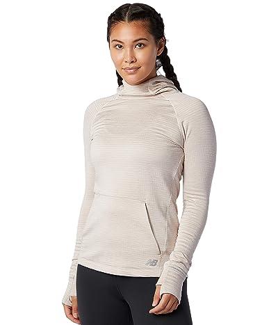 New Balance Heat Grid Hoodie (Seasalt Heather) Women