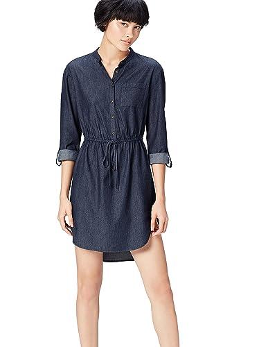 extremely unique later clearance Denim Shirt Dress: Amazon.co.uk