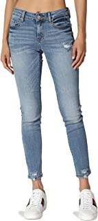 TheMogan Vintage Distressed Washed Stretch Denim Skinny Jeans