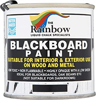 Chalkboard Blackboard Paint - Black 8.5oz - Brush on Wood, Metal, Glass, Wall, Plaster Boards Sign, Frame or Any Surface. Use with Chalk Pen Wet Erase, Safe and Non-Toxic. Matte Finish - Up to 100sf