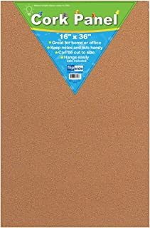 Frameless Light Brown Cork Bulletin Board - Great for the Classroom, Home, and Office - 16