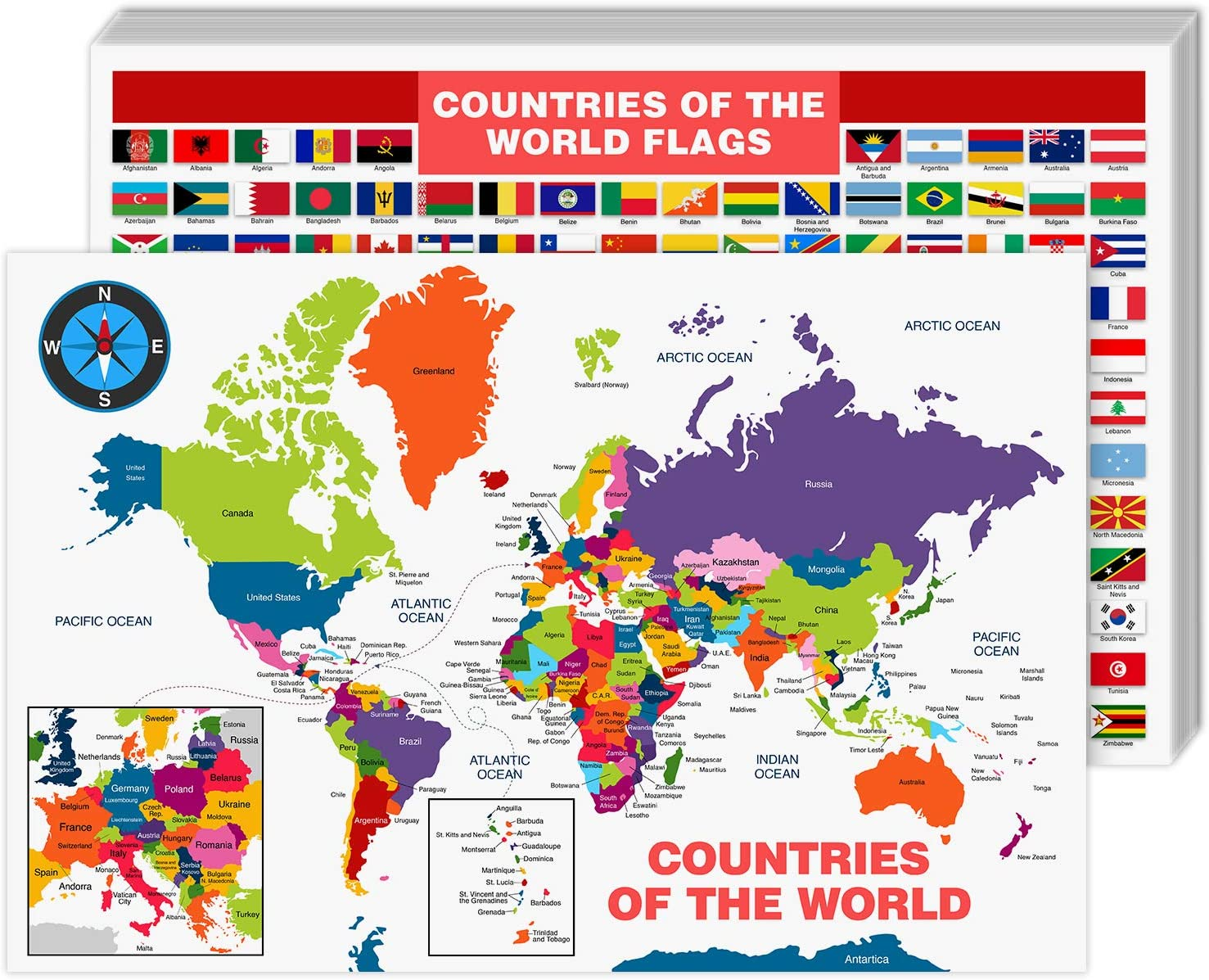 All Countries and Flags of New Shipping Free shopping The Great Map Lea Educational World