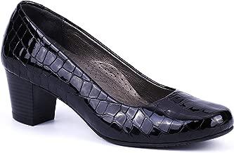 % 100 Patent Leather Black Comfort, Hospitality, Flight Attendant Shoes
