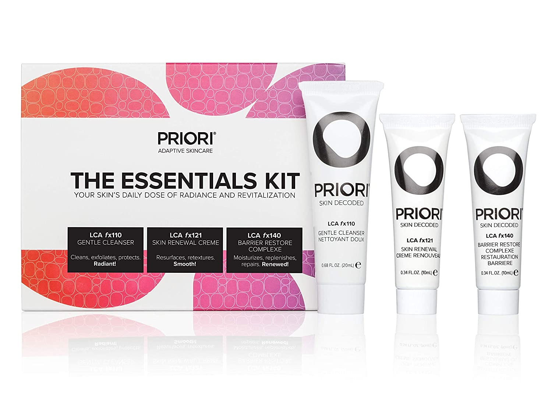Priori Skincare Essentials Travel Kit Regular discount Women for 55% OFF 3-Piece Men and