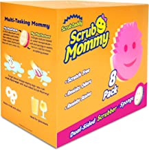 Scrub Daddy Dual Sided Sponge and Scrubber - Scrub Mommy - Scratch Free Sponge for Dishes and Home, Soft in Warm Water, Fi...