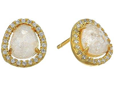 SHASHI Nora Pave Earrings (Moonstone) Earring