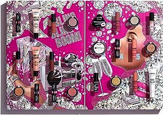 NYX Professional Makeup Diamonds and Ice Please Makeup Set, 24-częściowy, wszechstronny makijaż dla oczu, ust i twarzy, id...