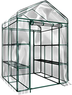Home-Complete HC-4202 Walk-In Greenhouse- Indoor Outdoor with 8 Sturdy Shelves-Grow Plants, Seedlings, Herbs, or Flowers I...