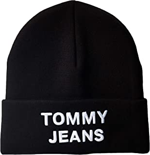 تومي هيلفغر قبعة شتوية للرجال ، لون اسود ، مقاس واحد