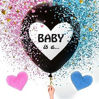 Gender Reveal Ballon, Ballon Fille ou Garcon Baby Shower,36 Pouces Gender Reveal Party Decoration Ballon,Le Sexe Révèle la...