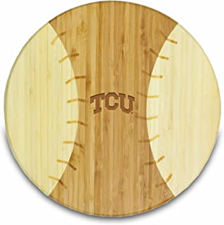 NCAA Texas Christian Horned Frogs Homerun! Bamboo Cutting Board with Team Logo, 12-Inch