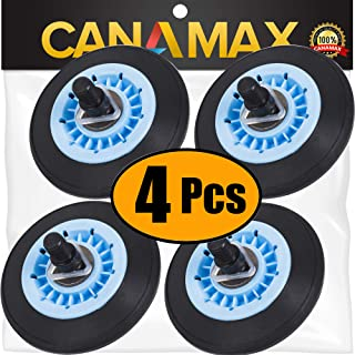 DC97-16782A Dryer Drum Roller Kit Premium Replacement Part by Canamax - Compatible with Samsung Dryers - Replaces DC97-07523A - PACK OF 4