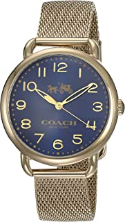 Coach Women's Quartz Watch Analog Display and Stainless Steel Strap, 14502665