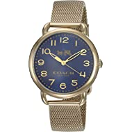 Women's 14502665 Delancey Gold Tone Stainless Mesh Bracelet Blue Dial Watch
