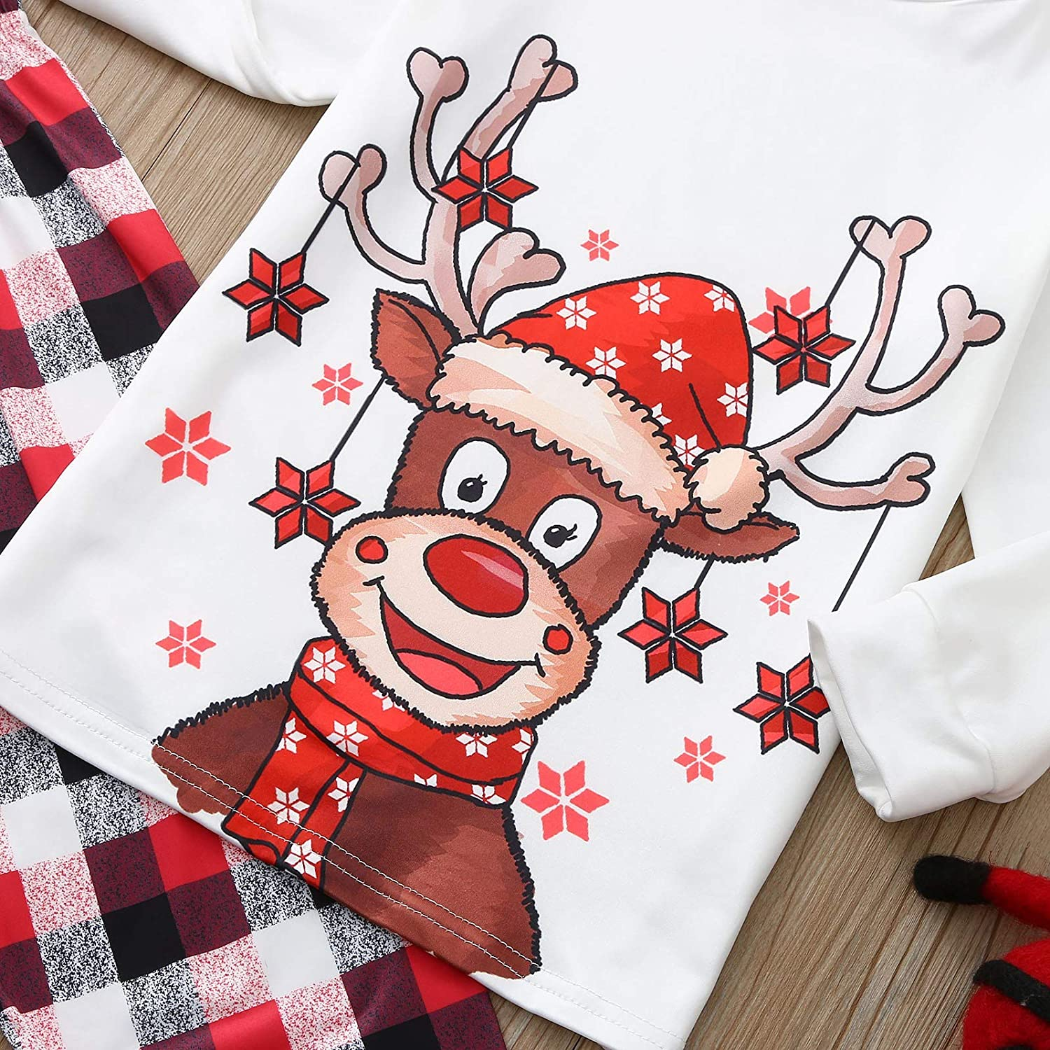 AODONG Christmas Loungewear for Family Matching Christmas Pajamas Set Family Women Men Kids Baby Lace Knit Nightwear Lingerie Gown Sleep Cami PJS Set with