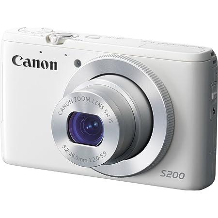 Canon デジタルカメラ PowerShot S200(ホワイト) F値2.0 広角24mm 光学5倍ズーム PSS200(WH)