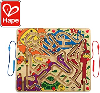 Award Winning Hape Zoo'm Kid's Magnetic Wooden Bead Maze Puzzle