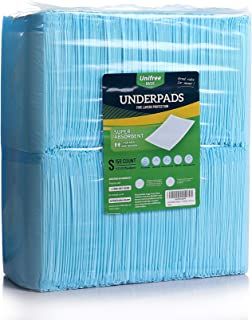 Unifree Disposable Underpad, Incontinence Pad, Super Absorbent (17.5 x 23.5 Inch) 150 Count
