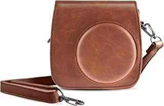 Shopizone Classic Vintage PU Leather Compact Case with Strap for Fujifilm Instax Mini 9/8 /8+ (Brown)