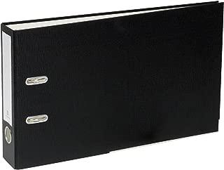 Bindertek 2-Ring 2-Inch Premium Linen Textured Top File Legal Binder, For Top-Punched 8.5 x 14 Paper, Black (TFLSLIMN-BK)