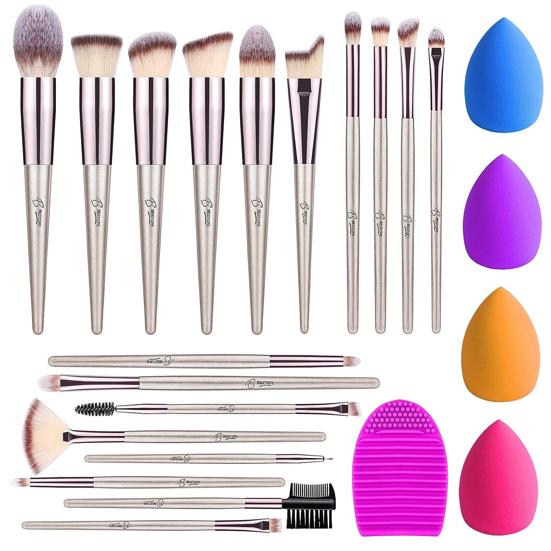 BESTOPE 18 Piece free Over item handling Makeup Brushes 4 1 and Clea Brush Sponge