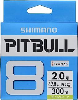 シマノ(SHIMANO) ライン ピットブル8 300m 1.0号~2.0号 ライムグリーン PL-M78S