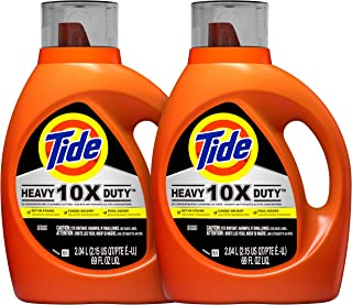 Tide 10x Heavy Duty Liquid Laundry Detergent, 72 Total Loads, 69 Fl Oz, Pack of 2