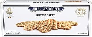 Jules Destrooper Butter Crisps, Belgian Butter Wafer Cookies, 6.1-Ounce Box
