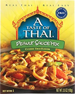A Tast of Thai Peanut Sauce Mix, 3.5 Oz Pack -- 6 Per Case. - PACK OF 4