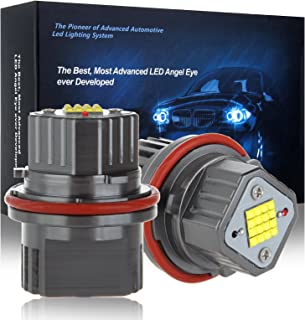cciyu 2x Ultra White 80W E39 Error Free CREE LED Angel Eyes Halo Ring Marker Bulbs Replacement fit for BMW 5 6 7 Series X3 X 5 (Fit E39 E53 E60 E63 E64 E65 E66 E83)